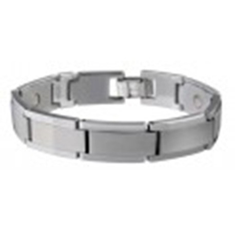 Magnetarmband Tungsten Carbide Brushed