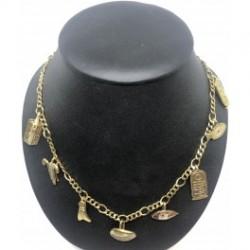 Halsband med 8 st Egyptiska symboler/berlocker (Sterling silver + 18 karats guldplätering)