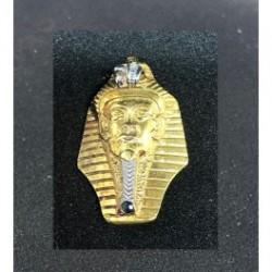 Egyptisk berlock Tutankhamon - Sterling silver 925 med handgjord 18 karats guldplätering.