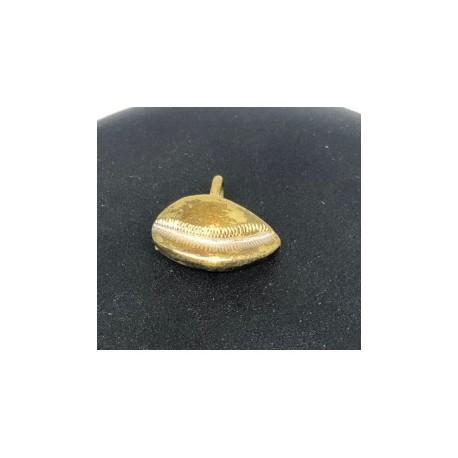 Egyptisk berlock Snäcka Sterling silver 925 med handgjord 18 karats guldplätering