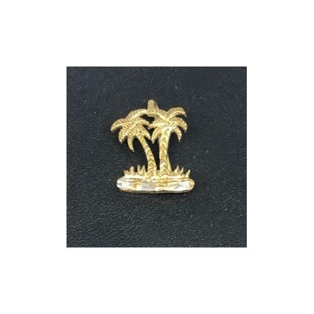 Egyptisk berlock Palm Sterling silver 925 med handgjord 18 karats guldplätering