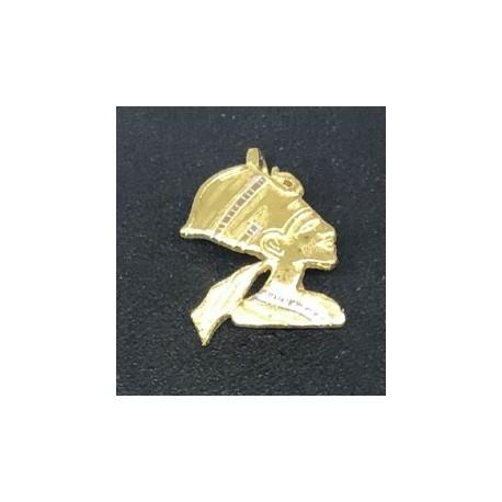 Egyptisk berlock Nerfertiti Sterling silver 925 med handgjord 18 karats guldplätering
