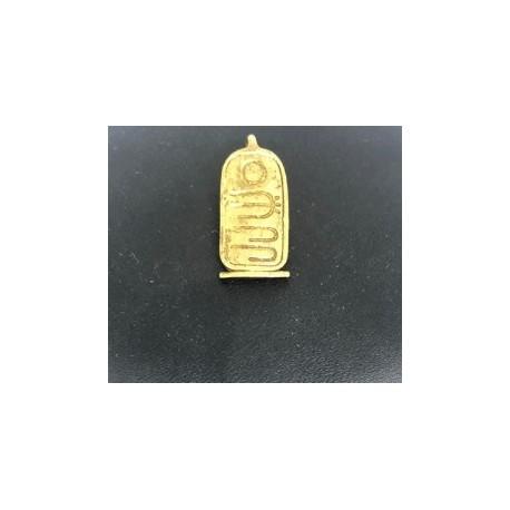 Egyptisk berlock Hieroglyfer Sterling silver 925 med handgjord 18 karats guldplätering
