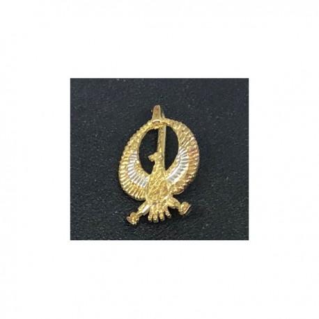 Egyptisk berlock Gam Sterling silver 925 med handgjord 18 karats guldplätering