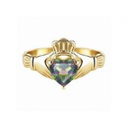 Claddagh Ring med Topaz